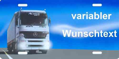 Namensschild Actros