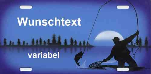 Namensschild Angler