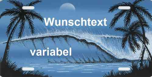 Namensschild Welle blau