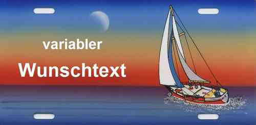 Namensschild Segelboot