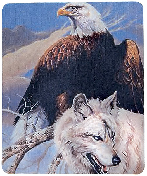 Mousepad Eagle-Wolf