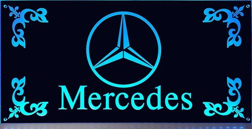 LED Schild Mercedes groß