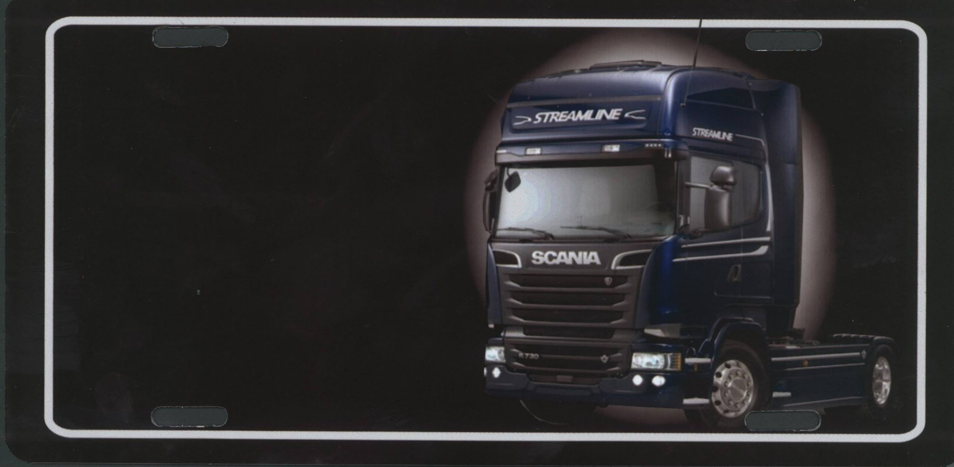 Namensschild Scania